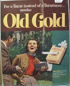 Old Gold For A Treat Ad 1949