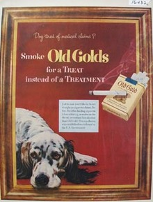 Old Gold Dog Tired Ad 1952