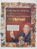 Old Gold Change With Seasons Ad 1952