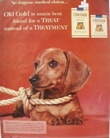 Old Golds No Doggone Medical Claims Ad 1954