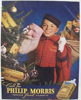Phillip Morris Christmas Ad 1937