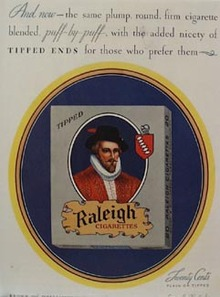 Raleigh Cigarettes Puff-By-Puff Ad 1929