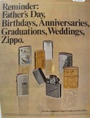Zippo Lighter Reminder Ad 1969