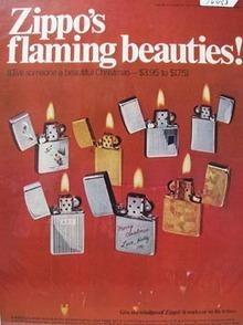 Zippo Christmas Ad 1969