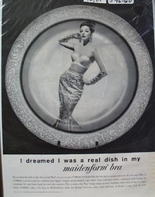 Maidenform Bra Real Dish Ad 1960