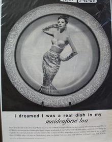 Maidenform Bra Real Dish Ad 1960