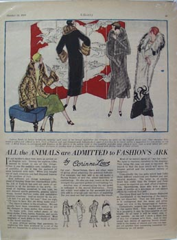 Fur Coats Fashion's Ark Article 1924