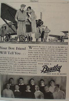 Bradley Knit Wear Best Friend Ad 1929