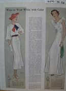 Butterick Dress Patterns Wear White Ad 1936