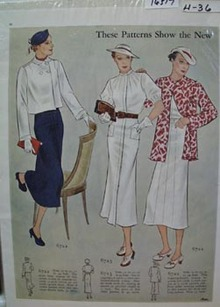 Butterick Patterns Show Ad 1936