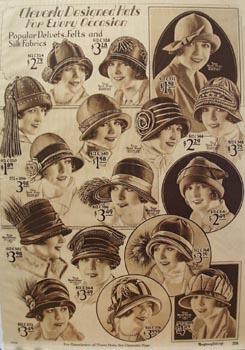 Montgomery Ward Designed Hats Ad 1925