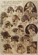 Montgomery Ward Designed Hats Ad 1925