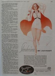 Jantzen Swimsuit Slenderized Ad 1936