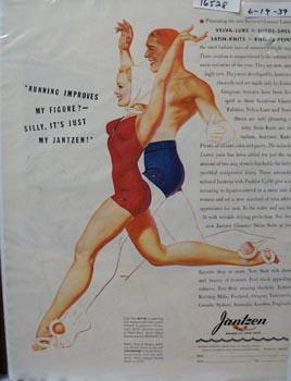 Jantzen Swimsuit Running Ad 1939