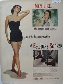 Esquire Socks Men Like Ad 1948