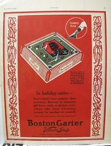 Boston Garter Christmas Ad 1924