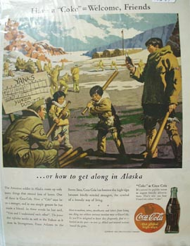 Coca-Cola Get Along in Alaska Ad 1943