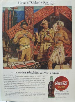 Coca-Cola New Zealand Ad 1944