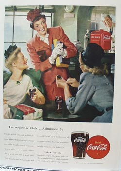 Coca-Cola Get Together Club Ad 1947