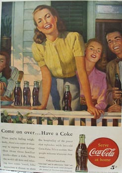 Coca-Cola Come on Over Ad 1947
