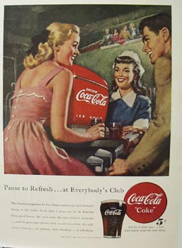 Coca-Cola Everybody's Club Ad 1948