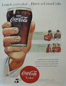 Coca-Cola Lunch Refreshed Ad 1948