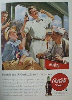 Coca-Cola Stretch & Refresh Ad 1948