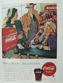 Coca-Cola Family At Soda Fountain Ad 1948
