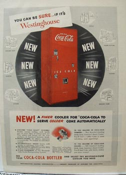 Coca- Cola & Westinghouse Ad 1949