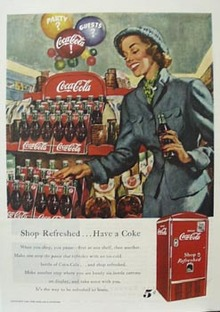 Coca-Cola When Shopping Ad 1949