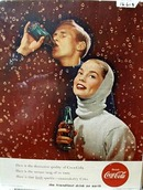 Coca-Cola Friendliest Drink Ad Middle 1950's