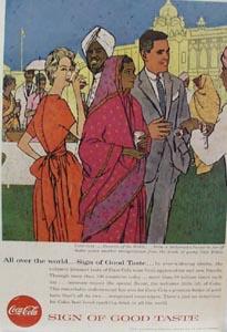 Coca Cola Maharaja's Palace Ad 1957