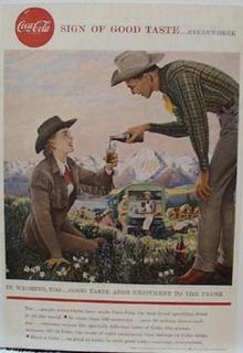Coca-Cola In Wyoming Ad 1958