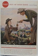 Coca-Cola In Wyoming Ad 1958