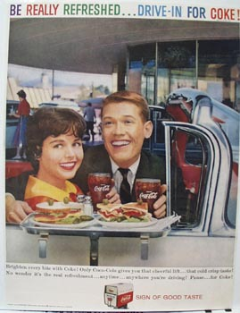 Coca-Cola Lunch At Drive-In Ad 1959