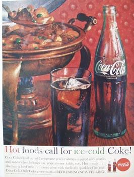 Coca-Cola & Hot Foods Ad 1962