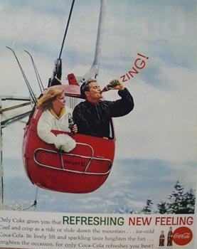 Coca-Cola Ride Down Mountain Ad 1962
