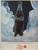 Coca-Cola One Bottle in Ice Ad 1965