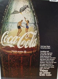 Coca-Cola Kite Flying on Beach Ad 1968