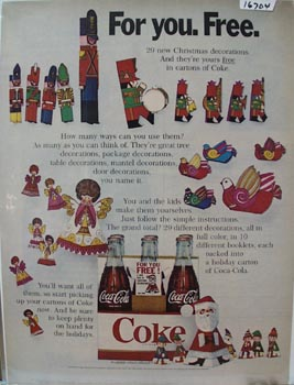 Coca-Cola Christmas Decorations Ad 1968