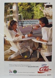 Coca-Cola At Tennis Court Ad 1992