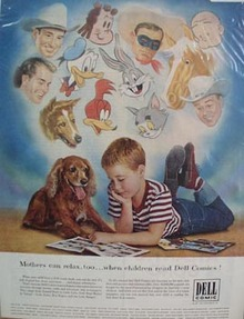 Dell Comics Little Boy and Dog Ad 1952