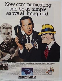 Dick Tracy & MobiLink Ad 1993