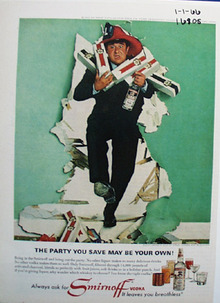 Smirnoff & Buddy Hackett Ad 1966