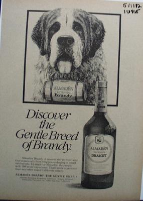 Almaden Brandy Gentle Breed Ad 1982
