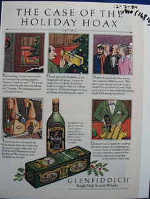 Glenfiddich Whiskey Case of Holiday Hoax Ad 1994