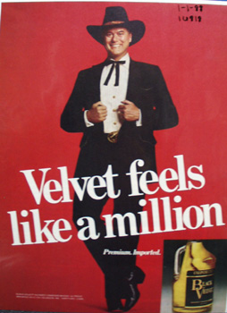 Black Velvet Whiskey & J R Ewing Ad 1988