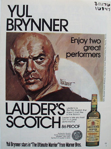 Luaders scotch and Yul Brynner enjoy two great performers ad.