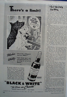 Black & White scotch whisky theres a limit ad.