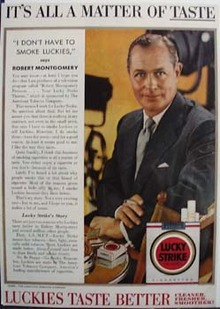 Lucky Strike its all a matter of taste ad., 1/1/54.